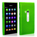 Coque Nokia N9 Filet Plastique Etui Rigide - Verte