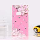 Coque Nokia N9 Luxe Fleurs Diamant Bling Etui Rigide - Rose