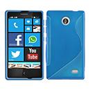 Coque Nokia X S-Line Silicone Gel Housse - Bleu
