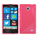 Coque Nokia X S-Line Silicone Gel Housse - Rose Chaud
