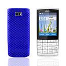 Coque Nokia X3-02 Filet Plastique Etui Rigide - Bleu