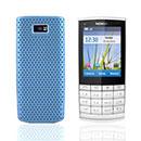 Coque Nokia X3-02 Filet Plastique Etui Rigide - Bleue Ciel