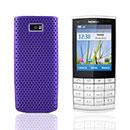 Coque Nokia X3-02 Filet Plastique Etui Rigide - Pourpre