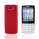 Coque Nokia X3-02 Filet Plastique Etui Rigide - Rouge