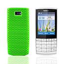 Coque Nokia X3-02 Filet Plastique Etui Rigide - Verte
