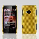 Coque Nokia X7 Filet Plastique Etui Rigide - Jaune