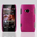 Coque Nokia X7 Filet Plastique Etui Rigide - Rose Chaud