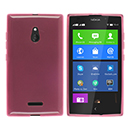 Coque Nokia XL Silicone Transparent Housse - Rose