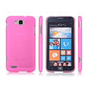 Coque Samsung Ativ S i8750 Ultrathin Plastique Etui Rigide - Rose Chaud