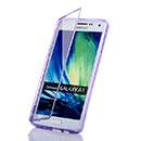 Coque Samsung Galaxy A5 Flip Silicone Gel Housse - Pourpre