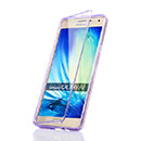 Coque Samsung Galaxy A7 Flip Silicone Gel Housse - Pourpre