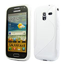Coque Samsung Galaxy Ace 2 i8160 S-Line Silicone Gel Housse - Blanche