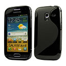 Coque Samsung Galaxy Ace 2 i8160 S-Line Silicone Gel Housse - Noire