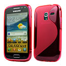 Coque Samsung Galaxy Ace 2 i8160 S-Line Silicone Gel Housse - Rouge