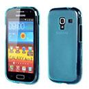 Coque Samsung Galaxy Ace 2 i8160 Silicone Transparent Housse - Bleu