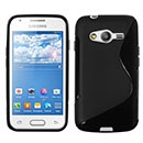 Coque Samsung Galaxy Ace 4 4G G357 S-Line Silicone Gel Housse - Noire