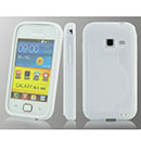 Coque Samsung Galaxy Ace Duos S6802 S-Line Silicone Gel Housse - Blanche