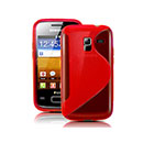 Coque Samsung Galaxy Ace Duos S6802 S-Line Silicone Gel Housse - Rouge
