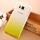 Coque Samsung Galaxy Alpha G850F Degrade Etui Rigide - Jaune