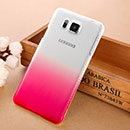 Coque Samsung Galaxy Alpha G850F Degrade Etui Rigide - Rose Chaud