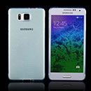 Coque Samsung Galaxy Alpha G850F Silicone Transparent Housse - Bleue Ciel