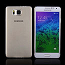 Coque Samsung Galaxy Alpha G850F Silicone Transparent Housse - Gris
