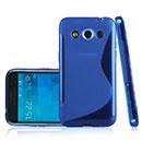Coque Samsung Galaxy Core Max G5108Q S-Line Silicone Gel Housse - Bleu