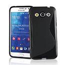 Coque Samsung Galaxy Core Max G5108Q S-Line Silicone Gel Housse - Noire
