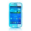 Coque Samsung Galaxy Core Plus G3500 Flip Silicone Gel Housse - Bleu