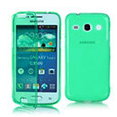 Coque Samsung Galaxy Core Plus G3500 Flip Silicone Gel Housse - Verte