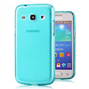 Coque Samsung Galaxy Core Plus G3500 Silicone Transparent Housse - Bleu