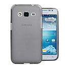 Coque Samsung Galaxy Core Prime G360H Silicone Transparent Housse - Gris