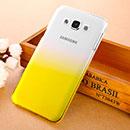 Coque Samsung Galaxy E7 E700 Degrade Etui Rigide - Jaune