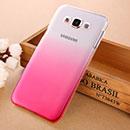 Coque Samsung Galaxy E7 E700 Degrade Etui Rigide - Rose Chaud