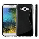 Coque Samsung Galaxy E7 E700 S-Line Silicone Gel Housse - Noire