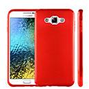 Coque Samsung Galaxy E7 E700 Silicone Gel Housse - Rouge