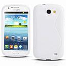 Coque Samsung Galaxy Express i8730 S-Line Silicone Gel Housse - Blanche