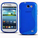 Coque Samsung Galaxy Express i8730 S-Line Silicone Gel Housse - Bleu
