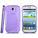 Coque Samsung Galaxy Express i8730 S-Line Silicone Gel Housse - Pourpre
