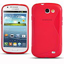 Coque Samsung Galaxy Express i8730 S-Line Silicone Gel Housse - Rouge