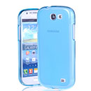 Coque Samsung Galaxy Express i8730 Silicone Transparent Housse - Bleu