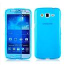Coque Samsung Galaxy Grand 2 G7102 Flip Silicone Gel Housse - Bleu