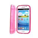 Coque Samsung Galaxy Grand Duos i9080 i9082 Flip Silicone Transparent Housse - Rose