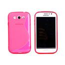 Coque Samsung Galaxy Grand Duos i9080 i9082 S-Line Silicone Gel Housse - Rose Chaud