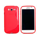 Coque Samsung Galaxy Grand Duos i9080 i9082 S-Line Silicone Gel Housse - Rouge