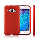 Coque Samsung Galaxy J1 Silicone Gel Housse - Rouge