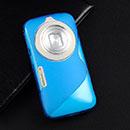 Coque Samsung Galaxy K Zoom S-Line Silicone Gel Housse - Bleu