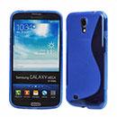 Coque Samsung Galaxy Mega 6.3 i9200 i9205 S-Line Silicone Gel Housse - Bleu
