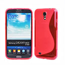 Coque Samsung Galaxy Mega 6.3 i9200 i9205 S-Line Silicone Gel Housse - Rouge