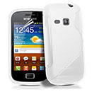 Coque Samsung Galaxy Mini 2 S6500 S-Line Silicone Gel Housse - Blanche
